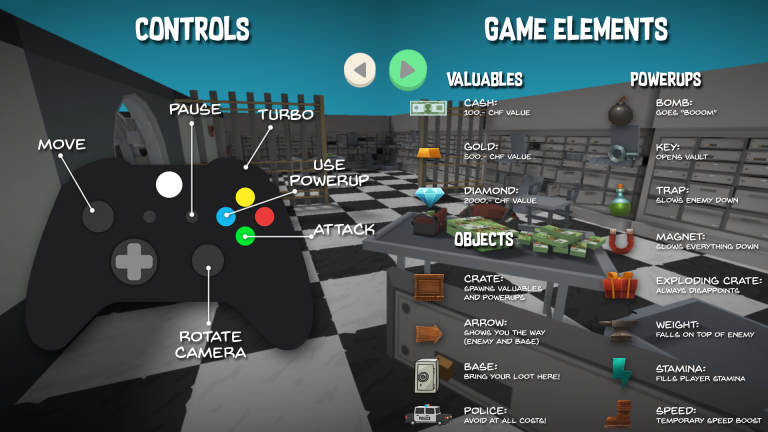 Controls and game elements